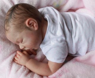 Beautiful Reborn Baby Girl Doll Chloe Sculpted by Ann Timmerman