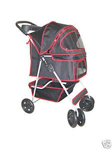New Stable Black Pet Dog Cat Stroller w Rain Cover