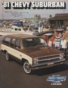 1981 Chevrolet Suburban Chevy CDN Sales Brochure Book