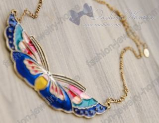 beautiful glazed butterfly charming chokers necklace item pictures++