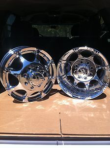 16 CHROME DUALLY WHEELS RIMS CHEVY 3500 DODGE 3500 2WD 4WD TRUCK