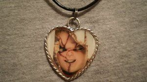 Childs Play Chucky Doll Horror Halloween Necklace