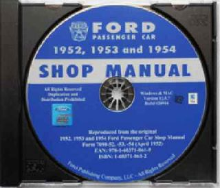 1954 FORD REPAIR SHOP MANUAL CD Ranch Wagon Country Squire Todor