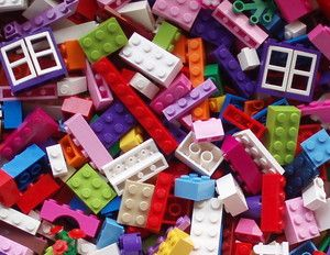 Bulk LEGO Lot Girl Colors Mix of 100 Pieces PURPLE WINDOWS Pink Bricks