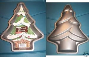 New w Recipe Christmas Tree Cake Pan Bakers Secret