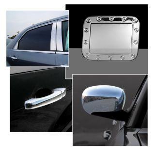 Chrome Grille Door Handle Mirror Covers Pillar Gas Tank