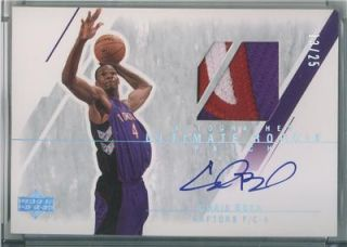 Chris Bosh 03 04 Ultimate Collection Auto Jersey RC 25
