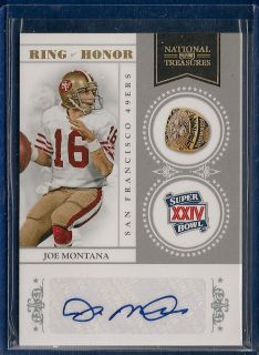 Joe Montana Playoff National Treasures Ring of Honor Signature AUTO SP