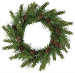 Pair 24 Artificial Pine Cone Greenery Christmas Wreath