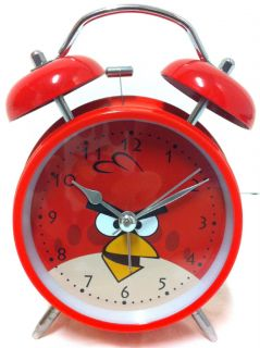 New RARE 6 Angry Birds Twin Bell Alarm Clock High Quality Free