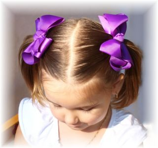 Boutique Toddler Girls Bow Hair Clip Dress School Color