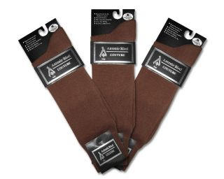 Pair of Antonio Ricci COGNAC BROWN Mens COTTON Dress SOCKS NEW