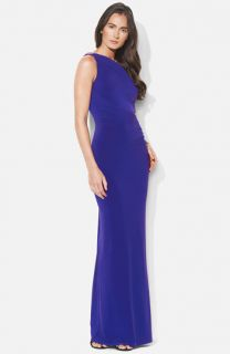 Lauren Ralph Lauren One Shoulder Matte Jersey Gown
