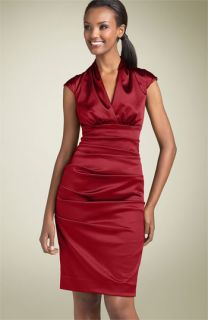 Nicole Miller Stretch Satin Sheath Dress