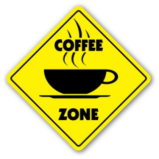 Coffee Zone Sign New Novelty Shop Beans Cup Gift Barista House