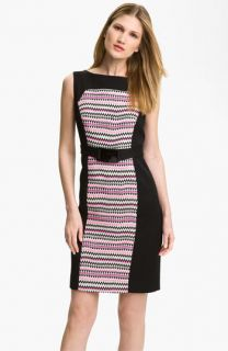 Milly Fiona Belted Colorblock Sheath Dress