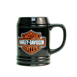 Licensed Ceramic Black Coffee Mug Cup Biker Motorcycle 20oz