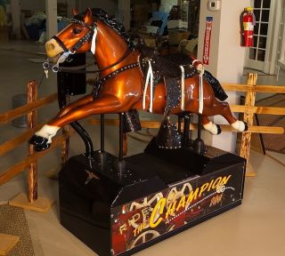 COIN OPERATED Champion HORSE KIDDIE RIDE PONY VINTAGE MECHANICAL