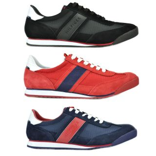 Tommy Hilfiger Claud Mens Suede Canvas Fashion Athletic Shoes