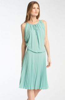 BCBGMAXAZRIA Draped Pleated Dress