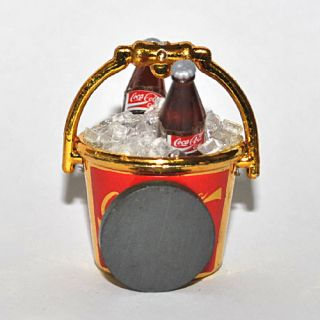 Fridge Magnet Miniature Gold Coca Cola Ice Bucket