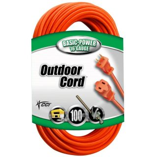 Coleman Cable 02209 16 2 Vinyl Outdoor Extension Cord Orange 10 25 100