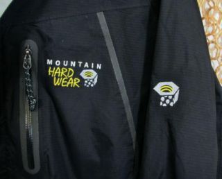 Mountain Hardwear Mens Nice Black Conduit Silk Seam SEALED Rain Jacket