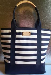 NEW NWT KATE SPADE COLLINS AVENUE TARIN TOTE SHOPPER PURSE NAVY/CREAM