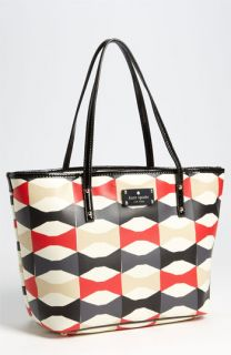 kate spade new york abstract signature bow   small harmony tote