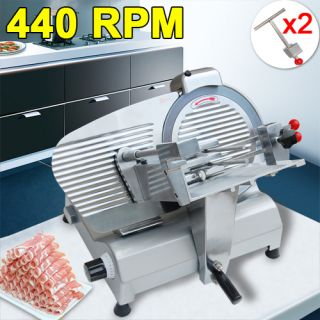 Blade Commercial Electric Slicer Deli Food 270W 440 RPM Cheese Meat