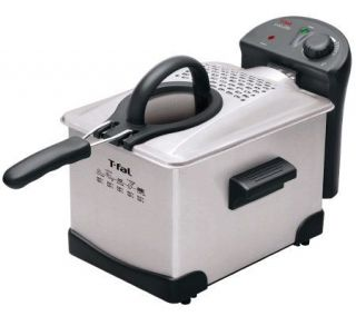 Fal Easy Pro Enamel 3 Liter Deep Fryer   Stainless Steel —
