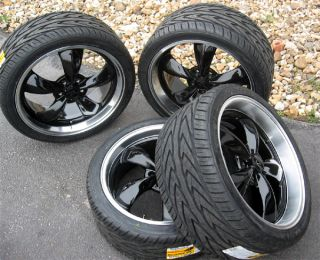 Black Mustang Bullitt Wheels 20x8 5 20x10 Toyo Tires 20 inch Rims and