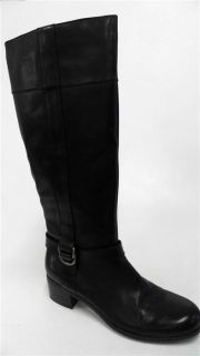 Bandolino Codi Womens Mid Calf Boots Sz 10 M Black Leather 2 Heel