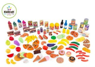 KidKraft Tasty Treats Kids Pretend Play Food Set 125 Piece 63187