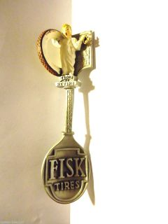 Advertising Fisk Tires Franklin Mint Pewter Collector Spoon