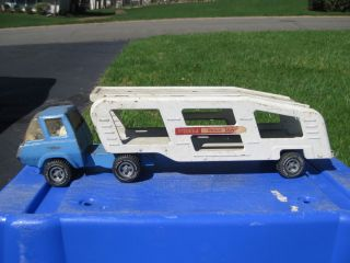 Vintage Tonka Toy 1960s Blue White Motor Mover Pressed Steel Truck