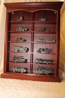 Franklin Mint Fire Truck Collection with Display Case