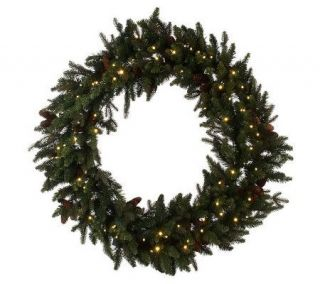 Bethlehem Lights Solutions 48 Wreath with Pinecones&Timer —