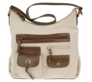 Stone Mountain Amherst Canvas Top Zip Pocket Hobo Bag —
