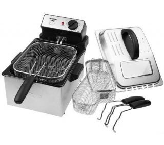 Waring Pro Stainless Steel 1800 Watt Deep Fryer w/ 3 Baskets   K34567