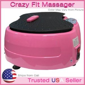 NEW Crazy Fit Mini Full Body Vibration Fitness Machine   PINK
