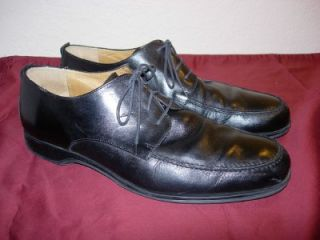 Coach Carleton Mens Black Leather Dress Shoes Lace Up Oxford Sz 11 D