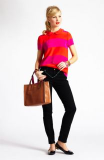 kate spade new york silk top & skinny jeans