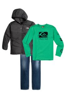 The North Face Reversible Jacket, Quiksilver Long Sleeve T Shirt & True Religion Brand Jeans Slim Leg Jeans (Big Boys)