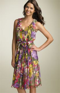 Suzi Chin for Maggy Boutique Belted Chiffon Dress