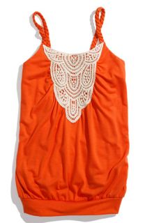 Paper Doll Crochet Front Tank Top (Big Girls)