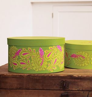 Fresh Paisley Damask Toils Green Hot Pink Stickers Decals Walls Wood