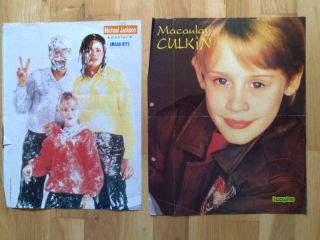 Macaulay Culkin with Michael Jackson O P A Posters