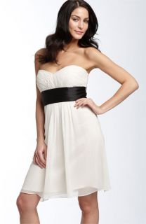 Laundry by Shelli Segal Strapless Chiffon Dress