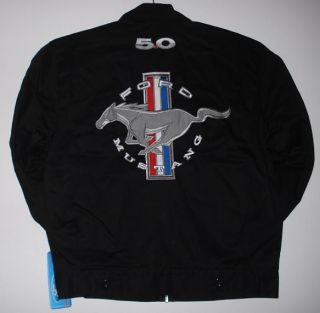 FORD MUSTANG RACING MECHANIC EMBROIDERED JACKET JH DESIGN XL